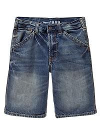 Denim worker shorts