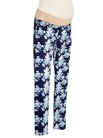 1969 demi panel floral always skinny jeans