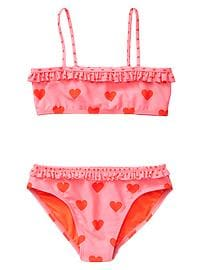 Heart print two-piece