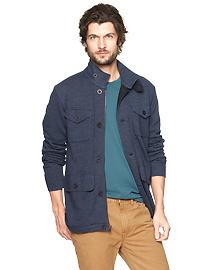 Fleece four-pocket jacket