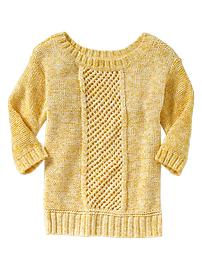 Textured open-weave sweater
