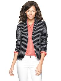 Striped twill academy blazer