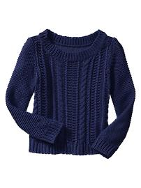 Cable knit boatneck sweater