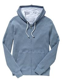 Thermal fleece zip hoodie