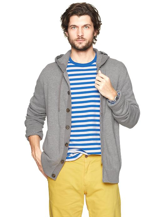 Gap Hooded Button Front Sweater $ 58.99