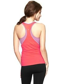 GapFit two-tone power shelf-bra tank