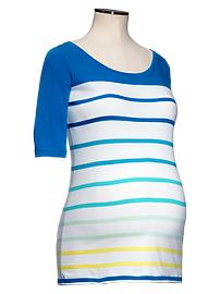 Colorblock striped T