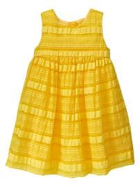 Multi-stripe organza dress
