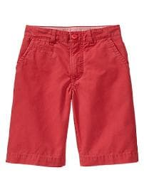 Colored flat-front shorts