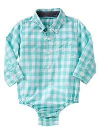 Gingham pocket bodysuit