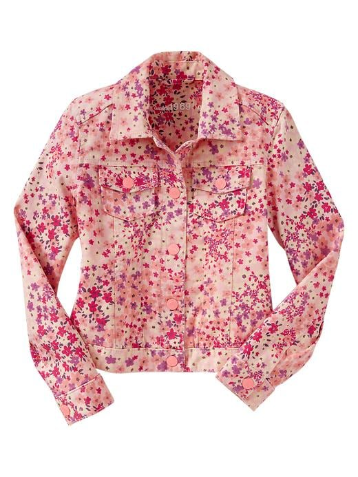 Gap Floral Print Deniim Jacket $ 19.99