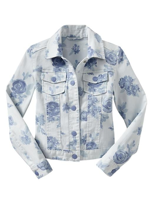 Gap Floral Print Deniim Jacket $ 20.99
