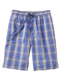 Plaid PJ shorts