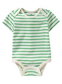 Lapped striped bodysuit