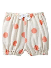 Terry dot bubble shorts
