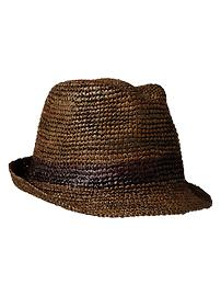 Single stripe straw fedora
