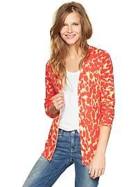 Dot print V-neck cardigan
