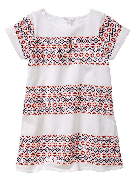 Gap Embroidered Cap Sleeve Dress $ 12.99