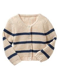 Striped garter-stitch cardigan