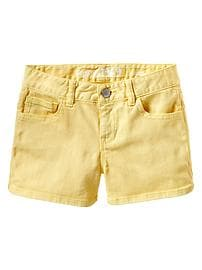 Shortie yellow denim shorts