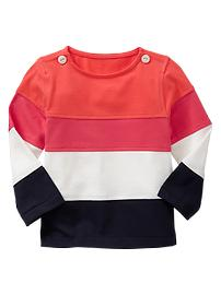 Colorblock boatneck shirt