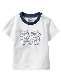 Sea graphic snap T