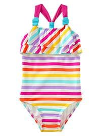 Striped racerback one-piece