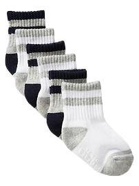Striped tube socks (6-pack)