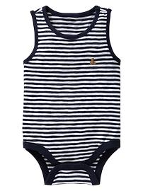 Thin striped tank bodysuit