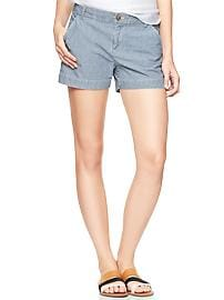 Sunkissed railroad-stripe shorts