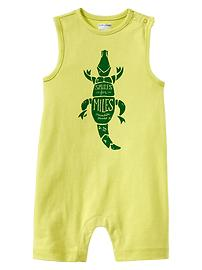 Crocodile graphic one-piece