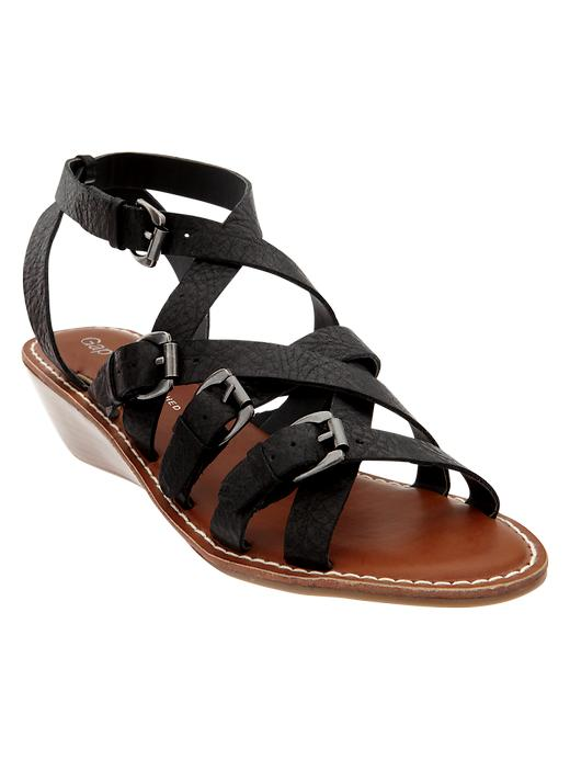 Gap Wedge Buckle Sandal