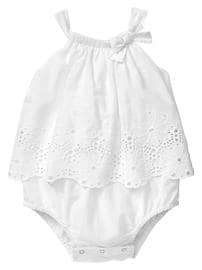 Eyelet bow body double
