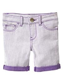 Purple weft Bermuda shorts