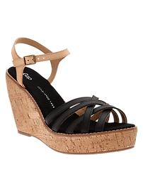 Cork crisscross wedges