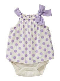 Polkadot bow body double