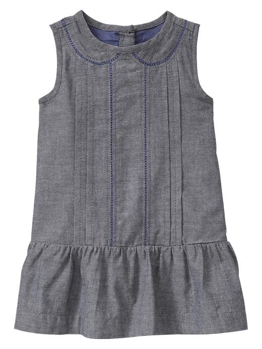 Gap Embroidered Chambray Dress $ 29.95