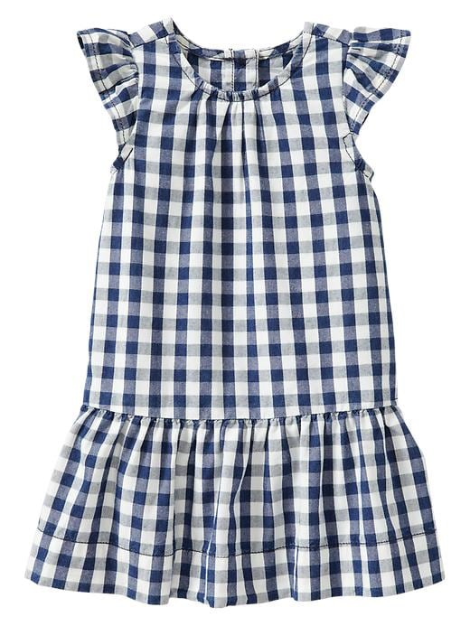 Gap Checkered Flutter Dress $ 29.95