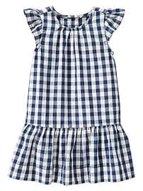 Checkered flutter dress