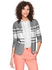 Knit unstructured blazer