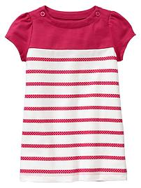 Striped puff dress