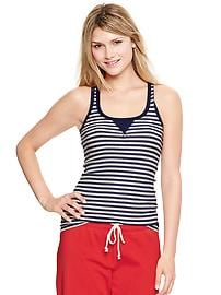 Striped rib patch tank