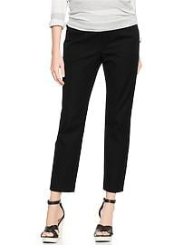 Demi panel slim cropped pants