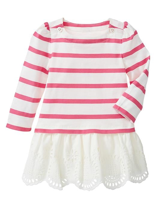 Gap Striped Eyelet Dress $ 26.95