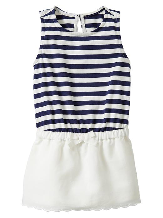 Gap Scalloped Stripe Dress $ 26.95
