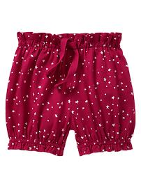 Star print ruffled shorts