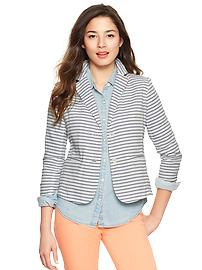 Striped unstructured blazer