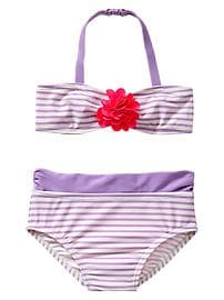 Striped flower two-piece