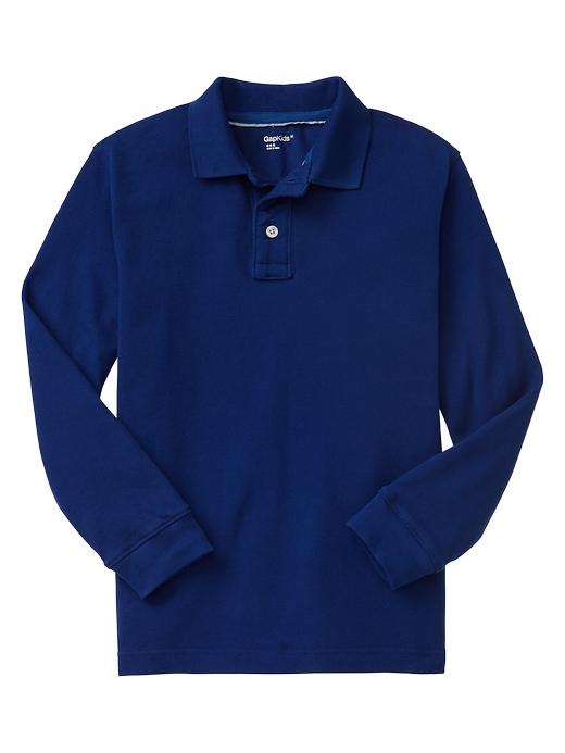 Gap Uniform Long Sleeve Pique Polo $ 19.95