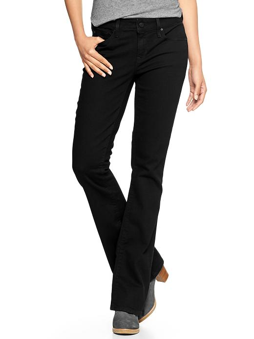 Gap 1969 Curvy Perfect Boot Jeans - true black